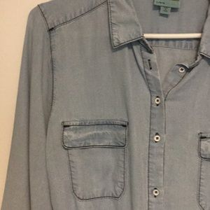 C&C California Dresses - Light Denim Chambray Dress C&C California Sz L